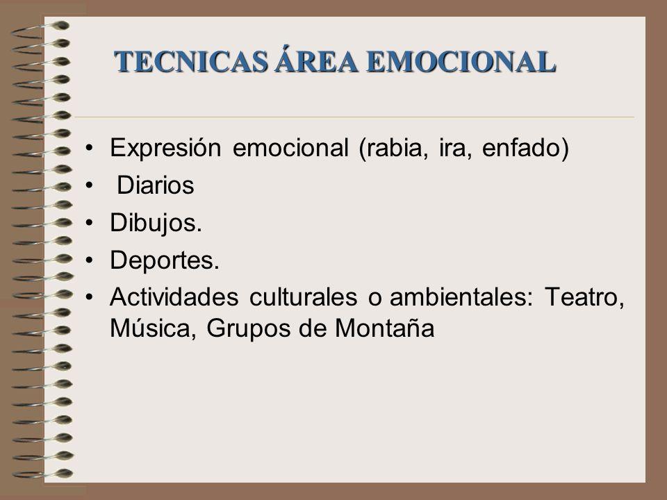 TECNICAS ÁREA EMOCIONAL