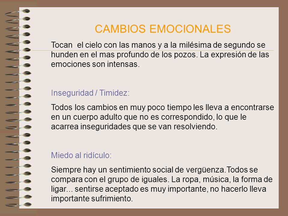 CAMBIOS EMOCIONALES