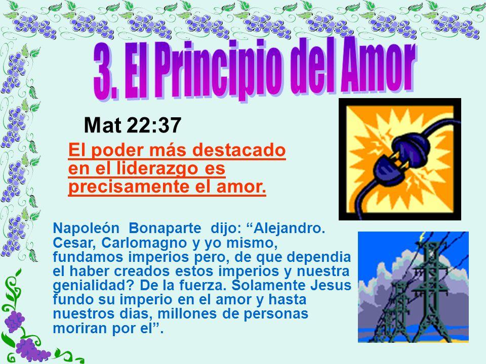 3. El Principio del Amor Mat 22:37