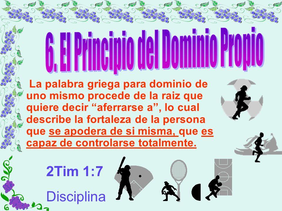 6. El Principio del Dominio Propio