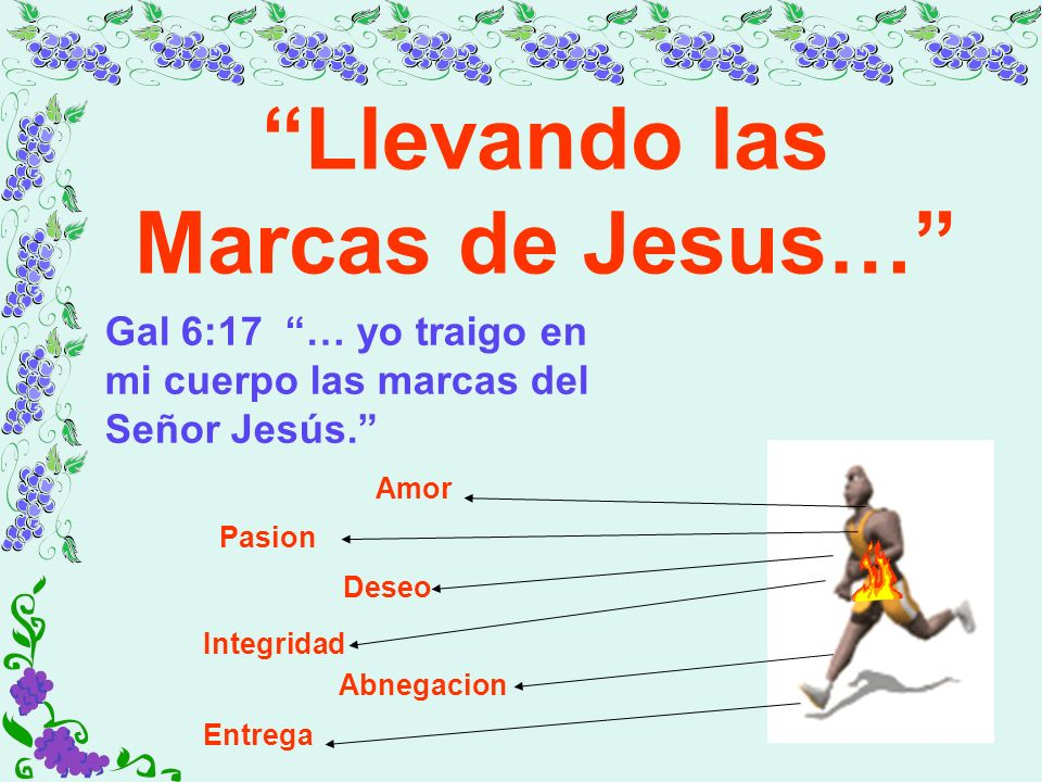 Llevando las Marcas de Jesus…
