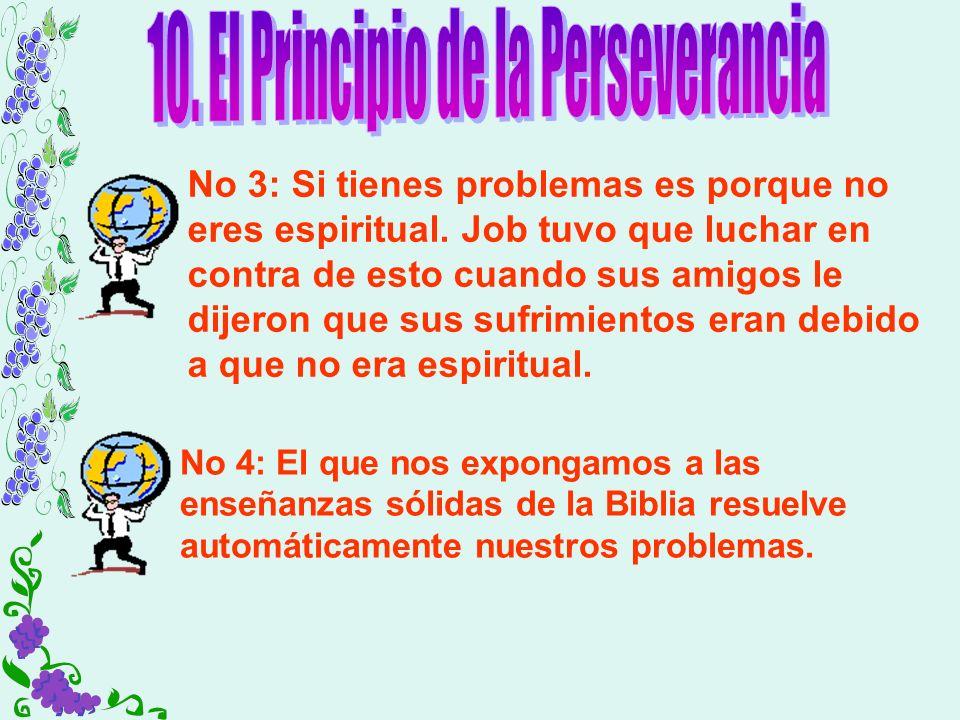 10. El Principio de la Perseverancia