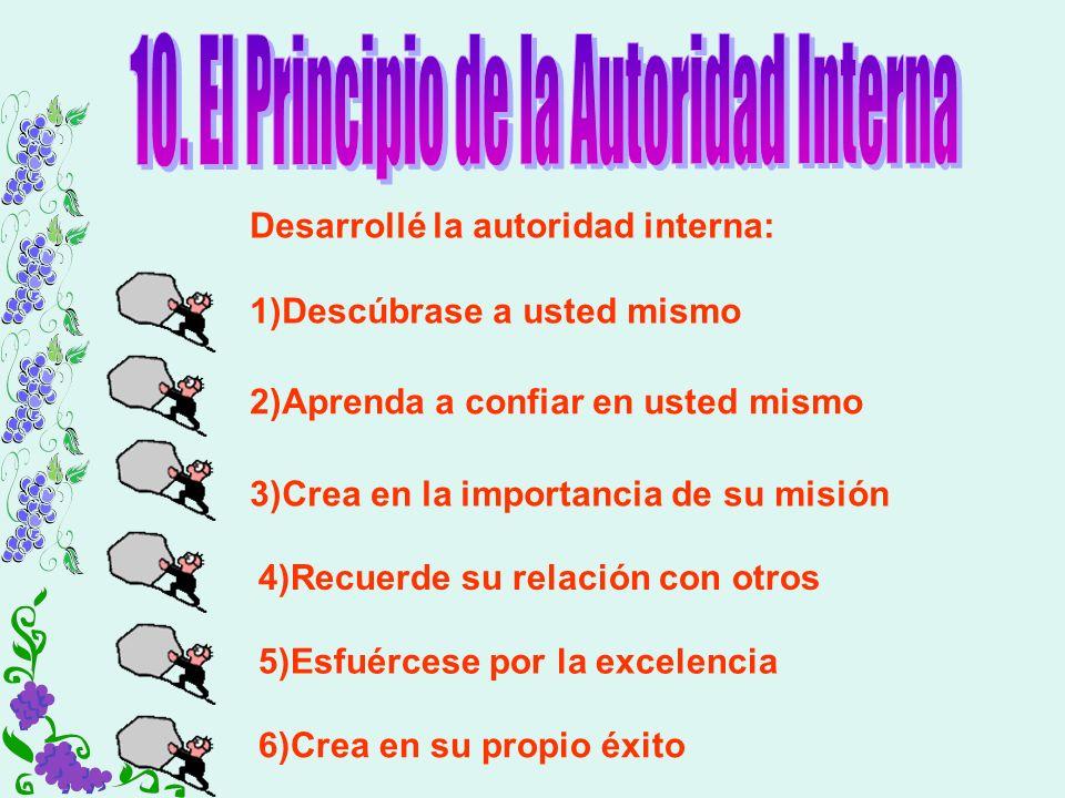 10. El Principio de la Autoridad Interna