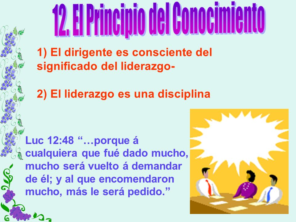 12. El Principio del Conocimiento