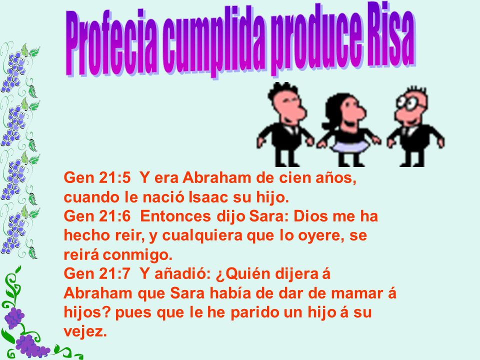Profecia cumplida produce Risa