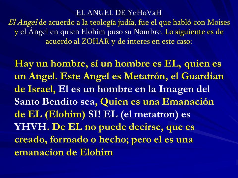EL ANGEL DE YeHoVaH