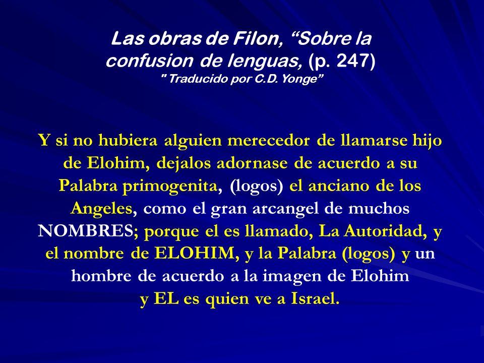 Las obras de Filon, Sobre la confusion de lenguas, (p. 247)