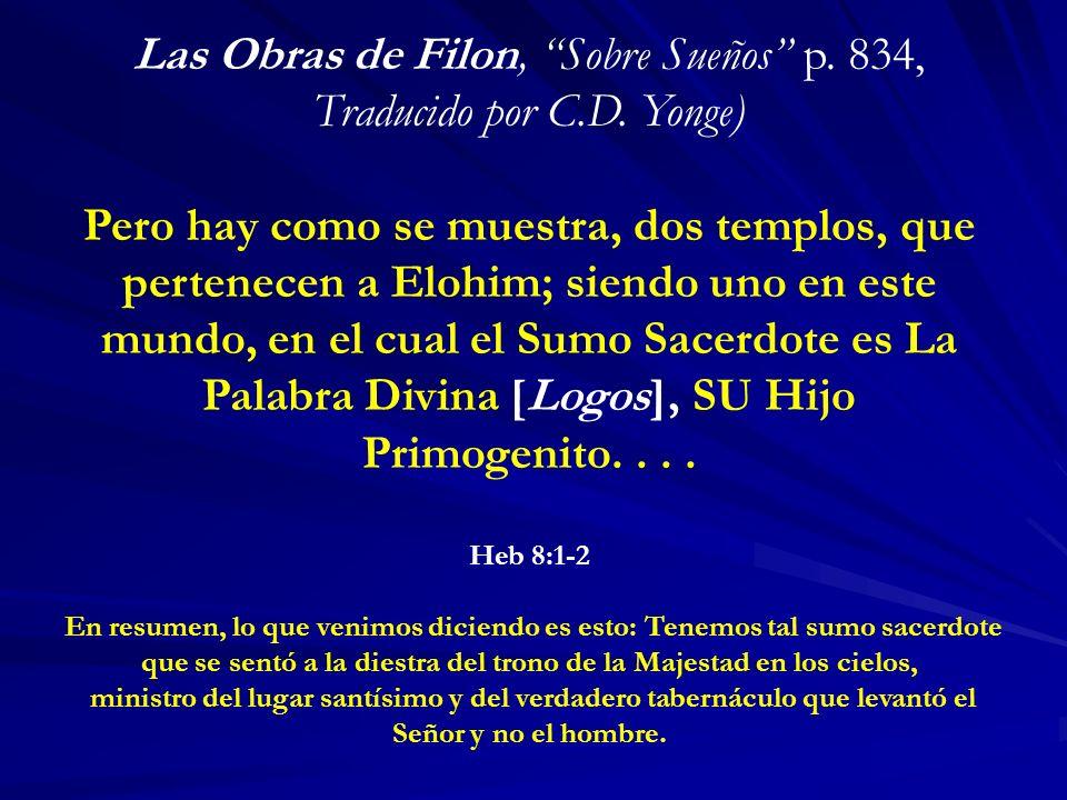 Las Obras de Filon, Sobre Sueños p. 834, Traducido por C.D. Yonge)