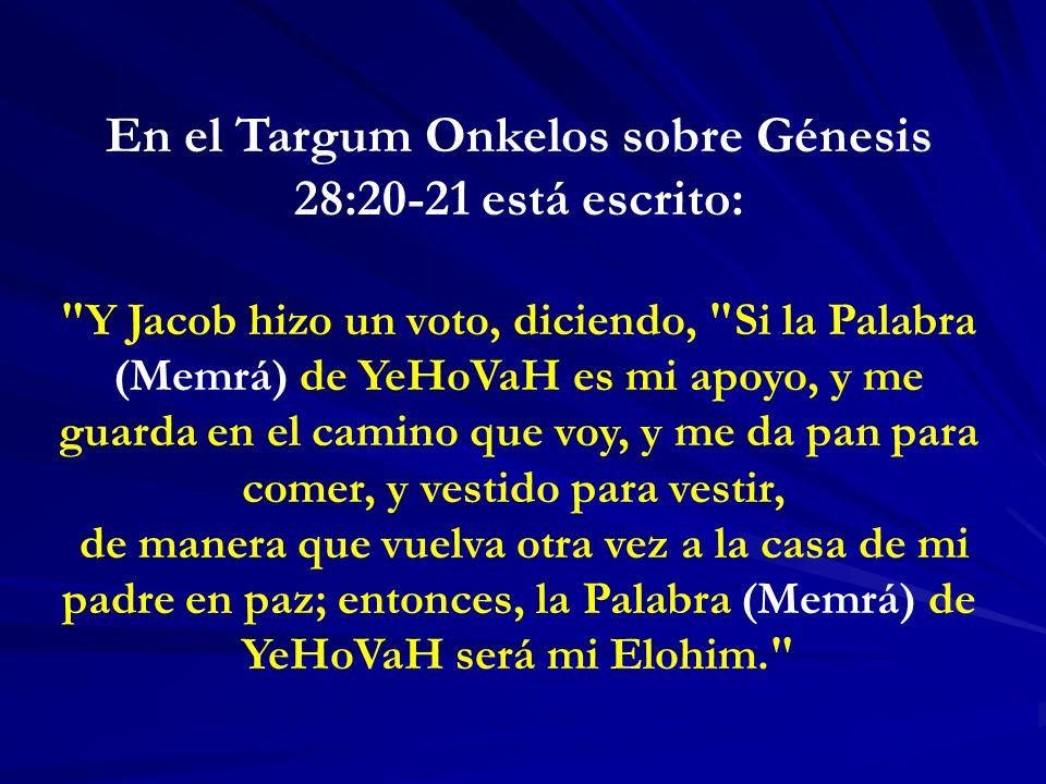 En el Targum Onkelos sobre Génesis 28:20-21 está escrito: