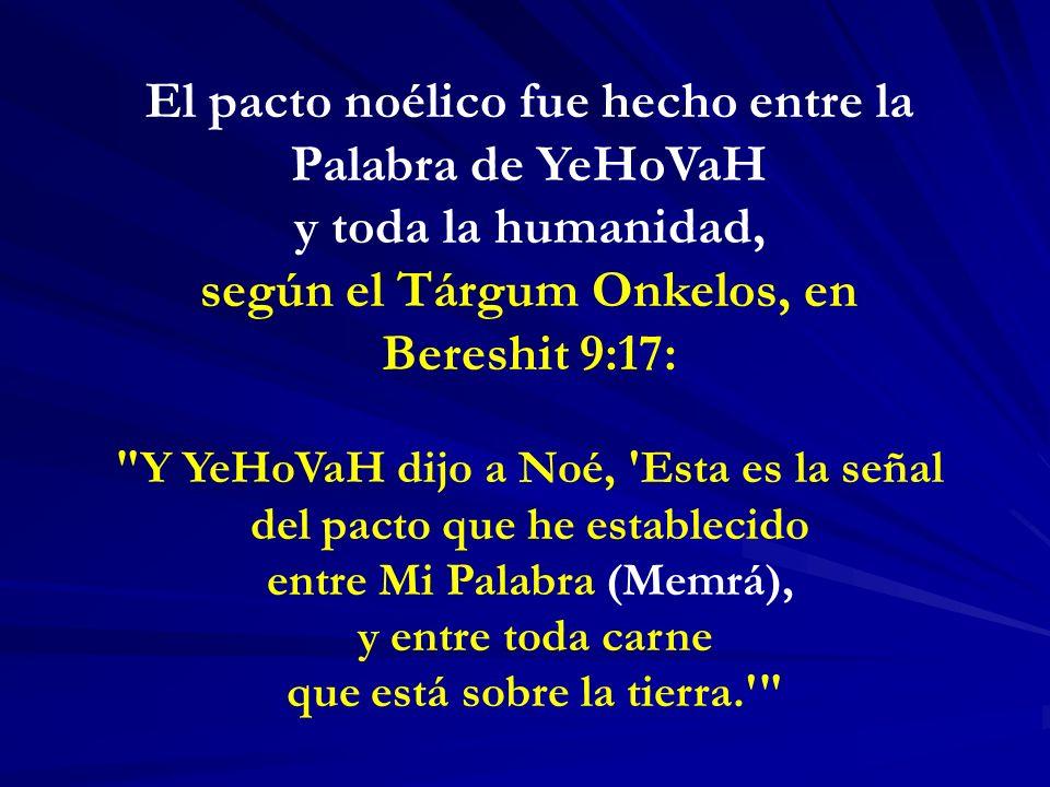 El pacto noélico fue hecho entre la Palabra de YeHoVaH