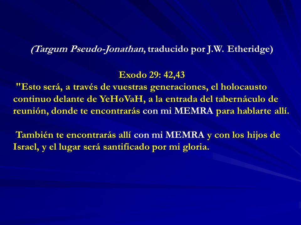 (Targum Pseudo-Jonathan, traducido por J.W. Etheridge)