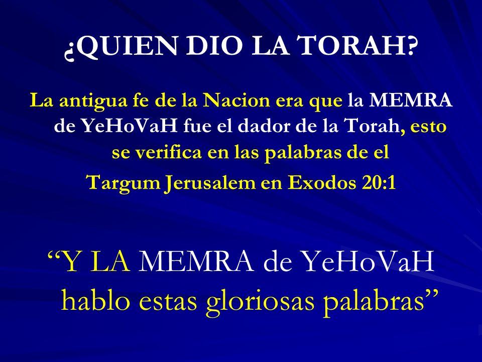 Targum Jerusalem en Exodos 20:1