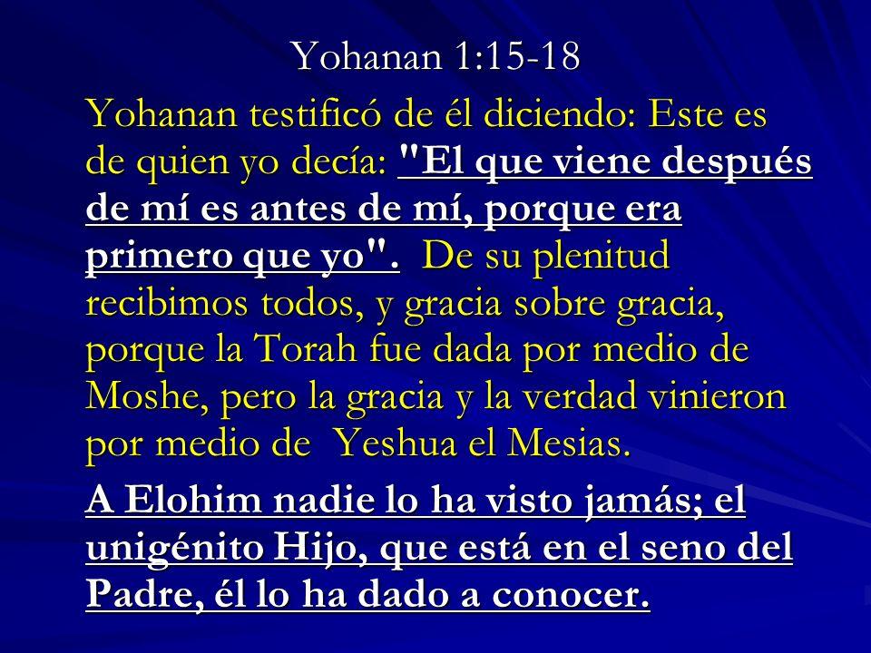 Yohanan 1:15-18