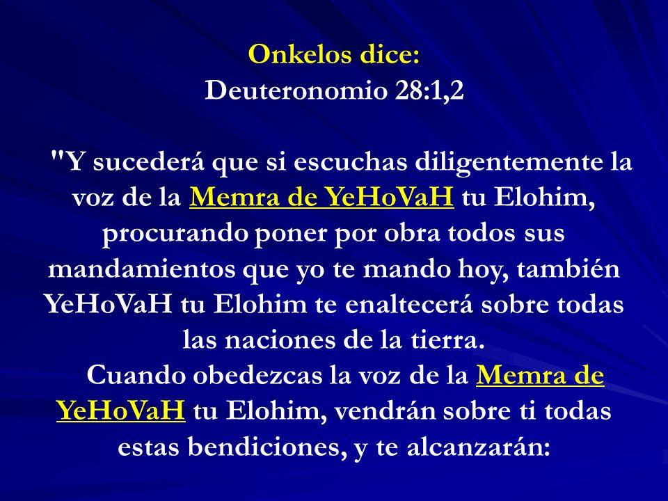 Onkelos dice: Deuteronomio 28:1,2.