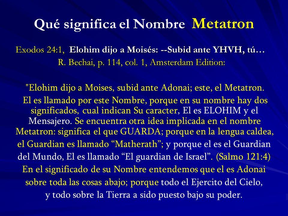 Qué significa el Nombre Metatron