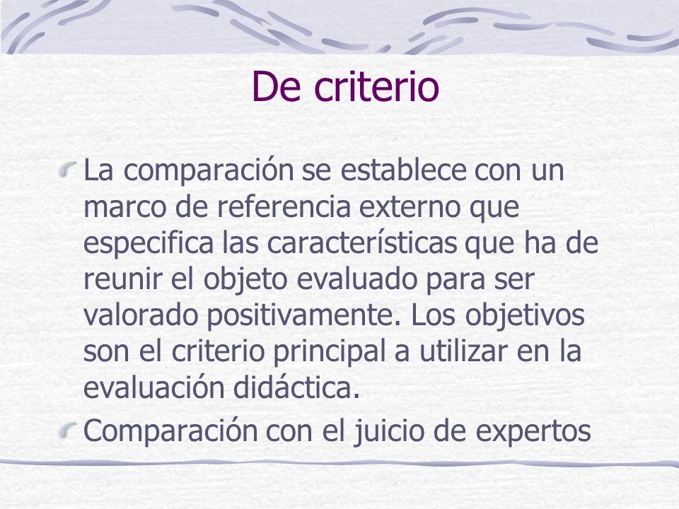 De criterio