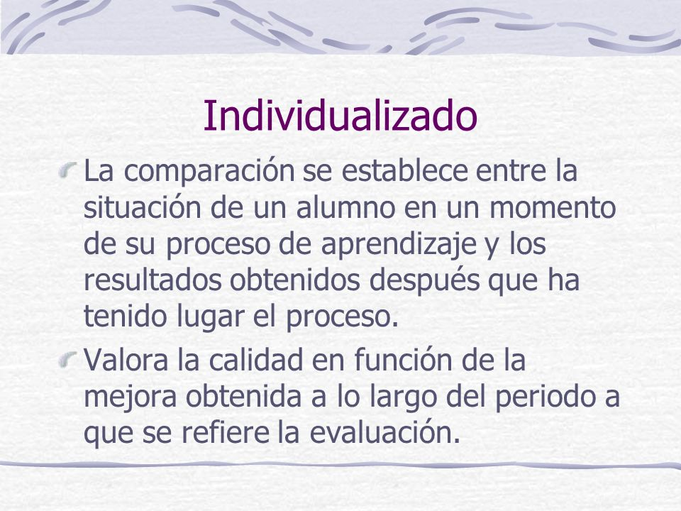 Individualizado