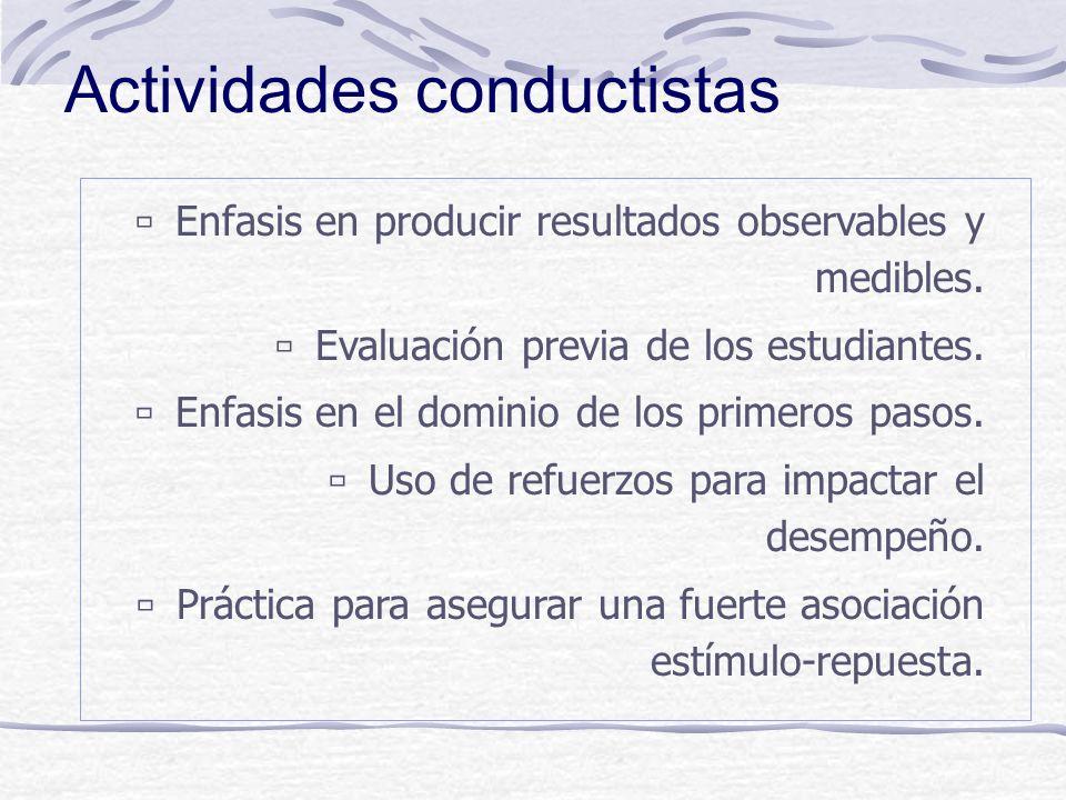 Actividades conductistas