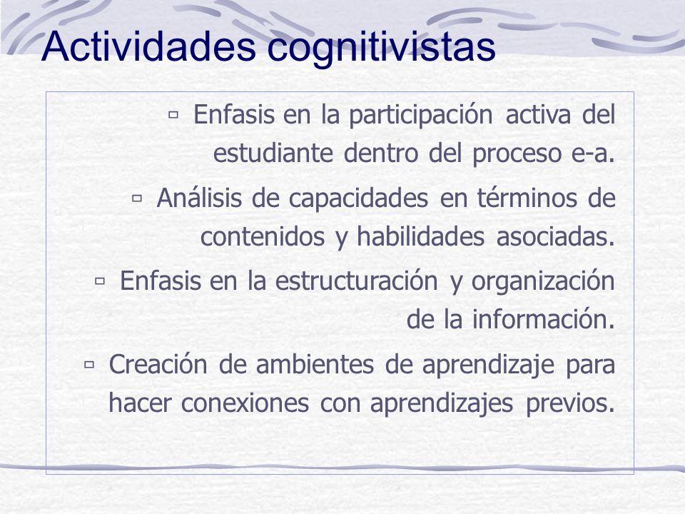Actividades cognitivistas