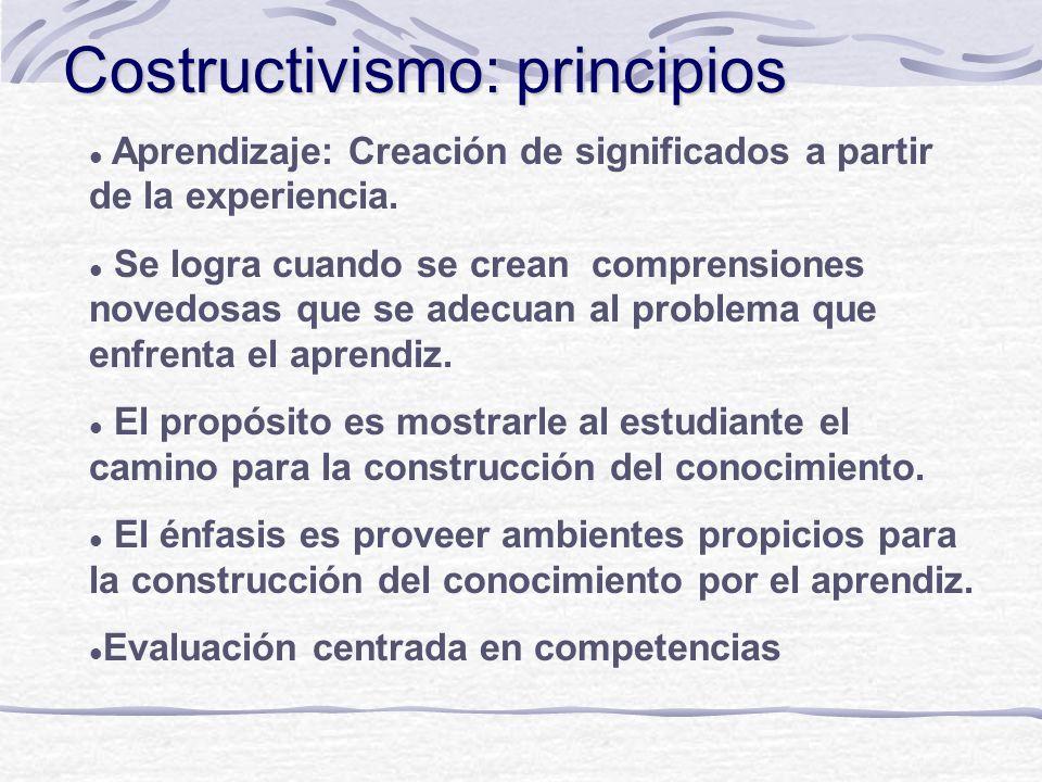 Costructivismo: principios