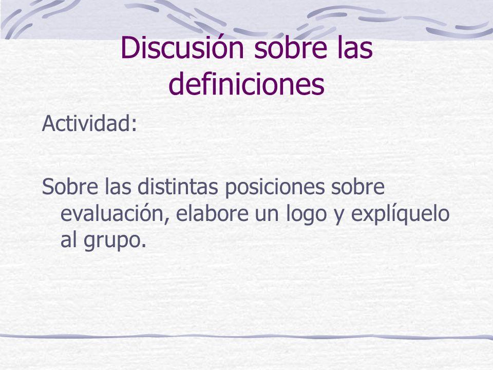 Discusión sobre las definiciones