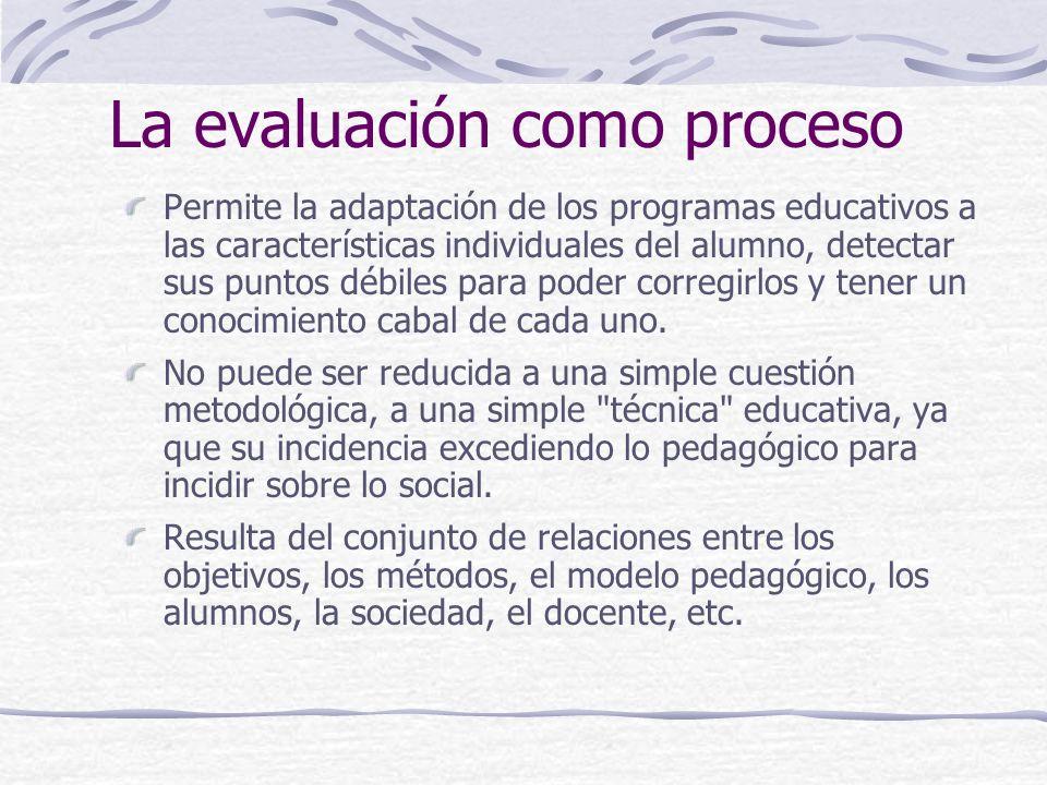 La evaluación como proceso