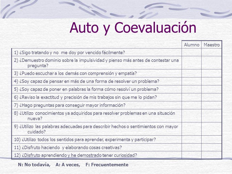 Auto y Coevaluación Alumno Maestro