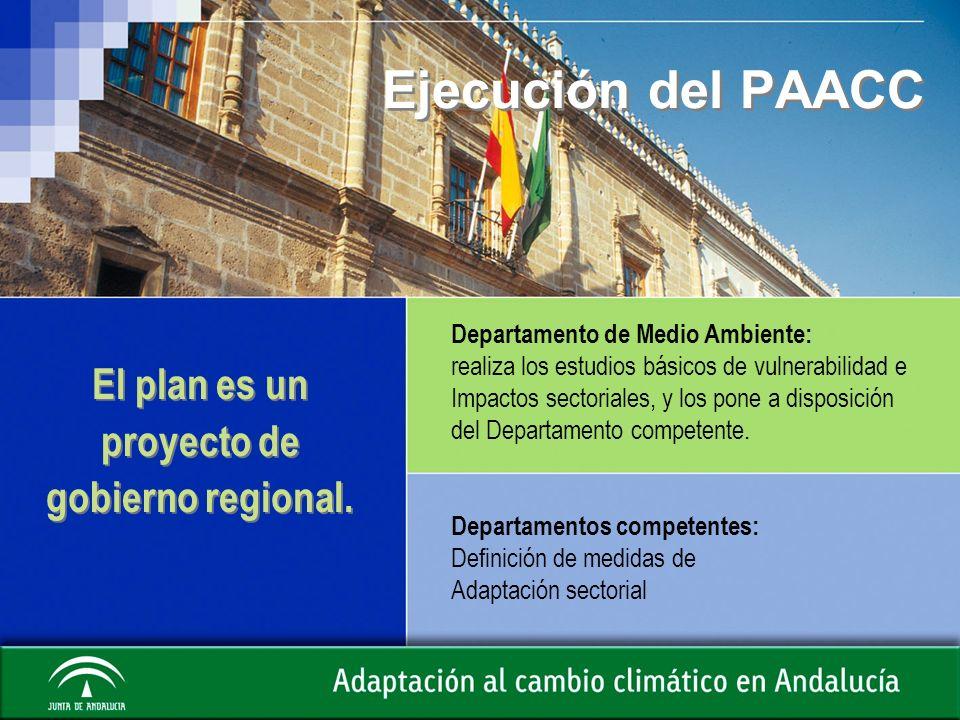 El plan es un proyecto de gobierno regional.