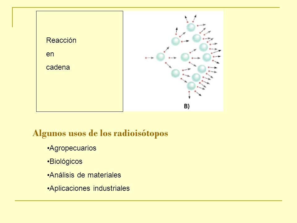 Algunos usos de los radioisótopos