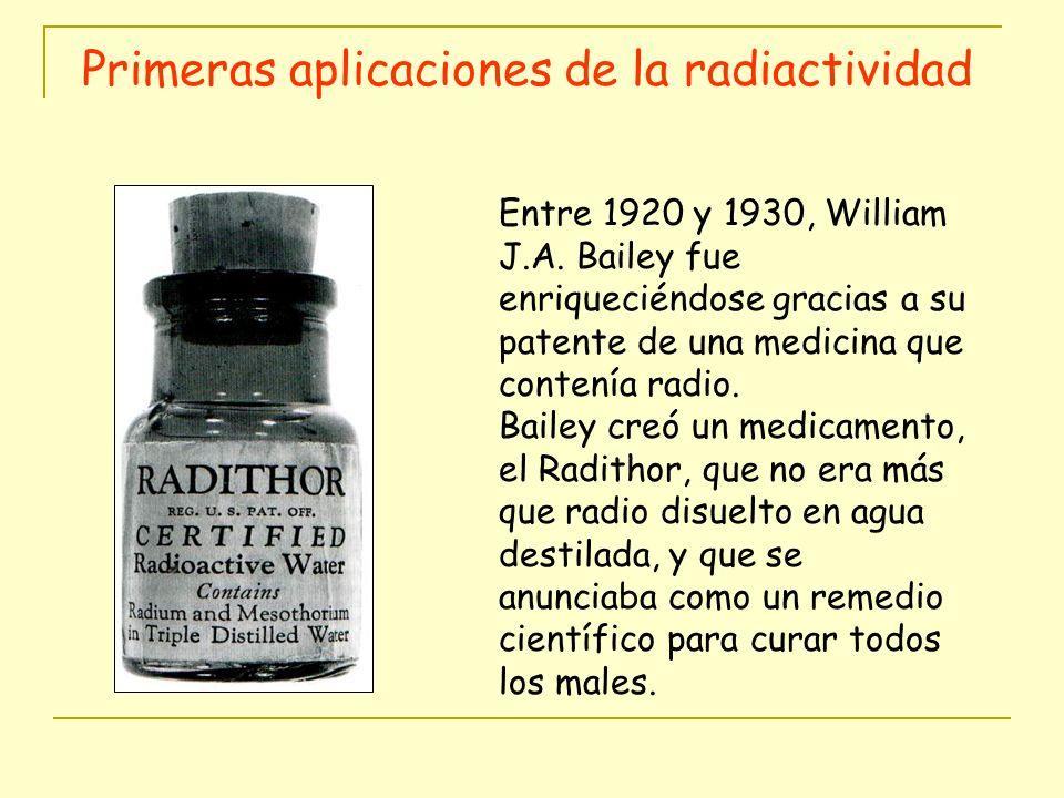 Primeras aplicaciones de la radiactividad