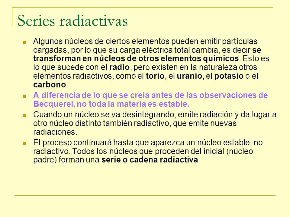 Series radiactivas
