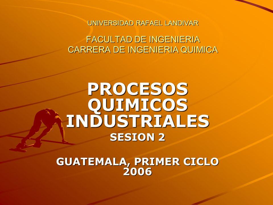 PROCESOS QUIMICOS INDUSTRIALES SESION 2 GUATEMALA, PRIMER CICLO 2006