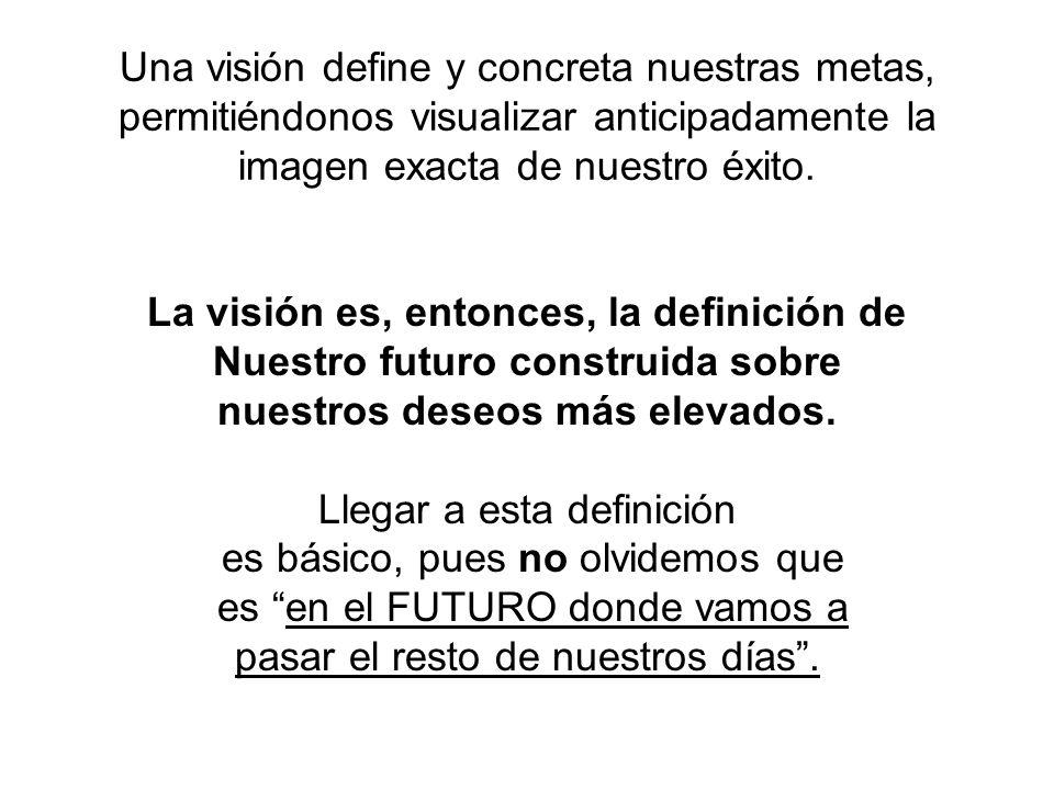 La visión es, entonces, la definición de