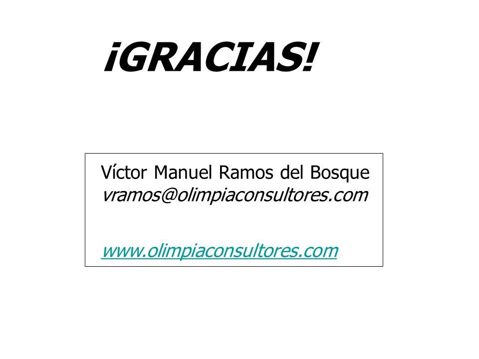¡GRACIAS! Víctor Manuel Ramos del Bosque vramos@olimpiaconsultores.com