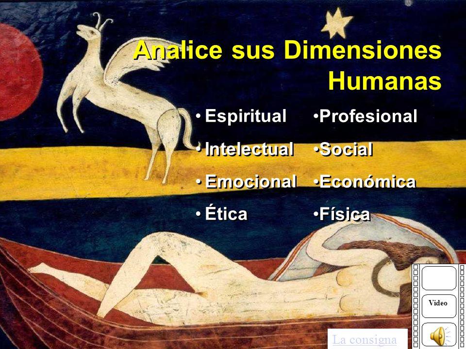 Analice sus Dimensiones Humanas