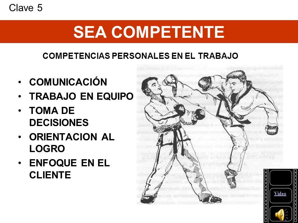 COMPETENCIAS PERSONALES EN EL TRABAJO