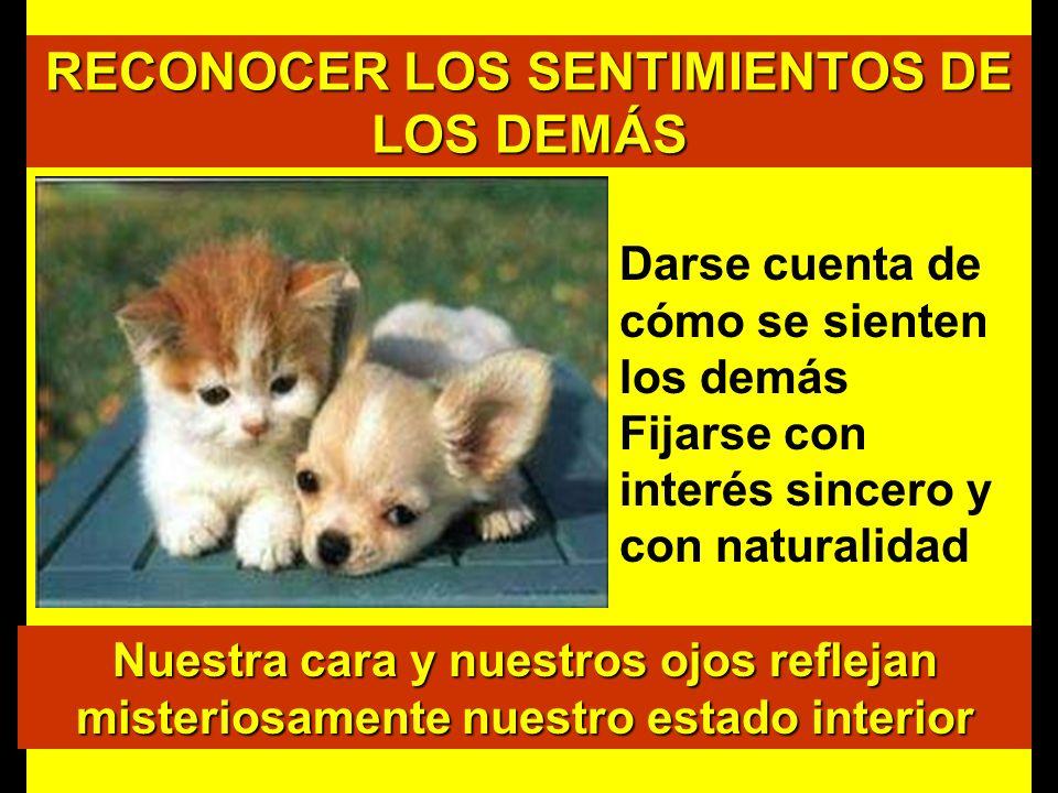 RECONOCER LOS SENTIMIENTOS DE LOS DEMÁS
