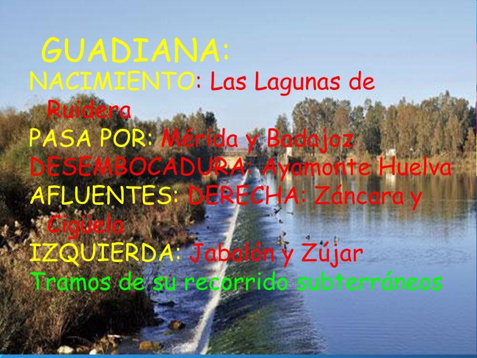 GUADIANA: NACIMIENTO: Las Lagunas de Ruidera
