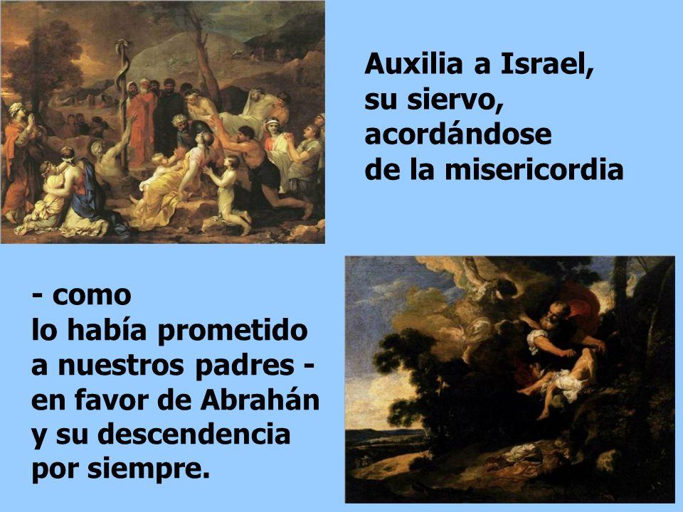Auxilia a Israel, su siervo, acordándose de la misericordia