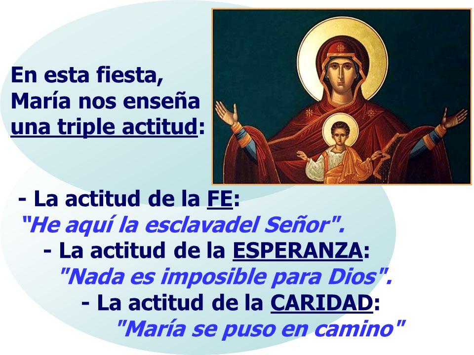 En esta fiesta, María nos enseña una triple actitud: