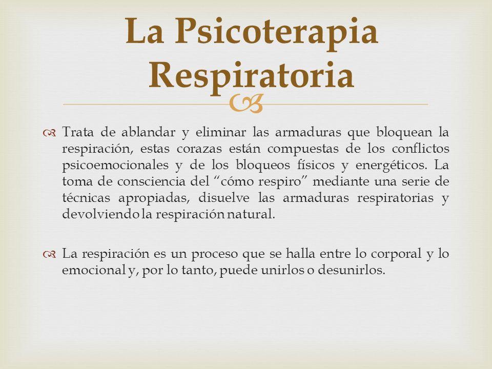 La Psicoterapia Respiratoria