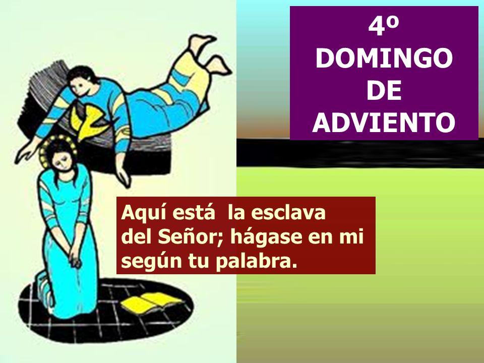 4º DOMINGO DE ADVIENTO Aquí está la esclava del Señor; hágase en mi según tu palabra.
