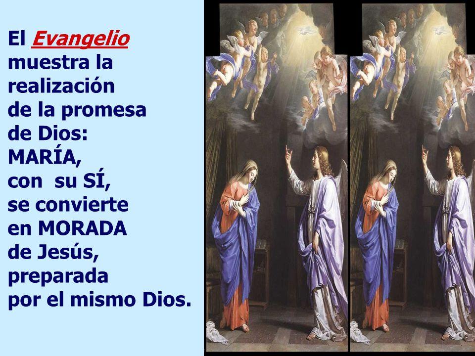 El Evangelio muestra la realización de la promesa de Dios: