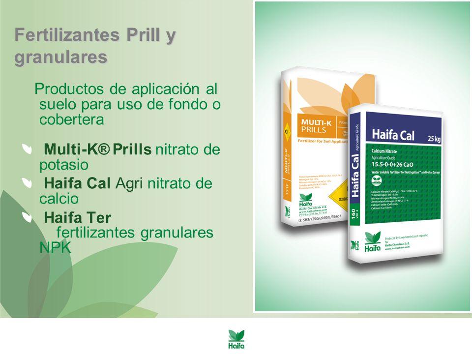 Fertilizantes Prill y granulares
