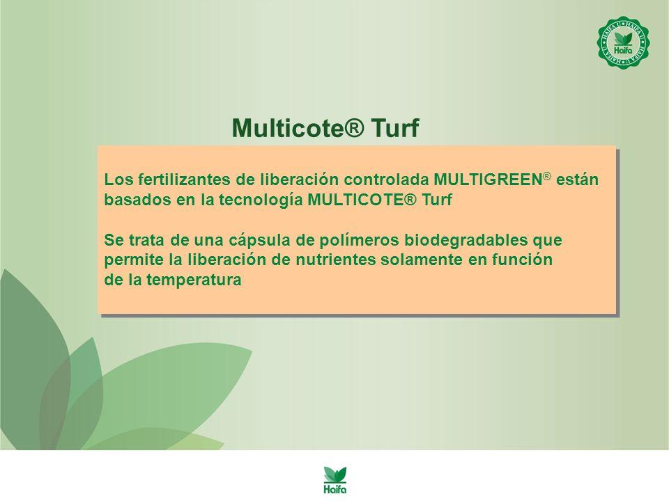 Multicote® Turf Los fertilizantes de liberación controlada MULTIGREEN® están. basados en la tecnología MULTICOTE® Turf.