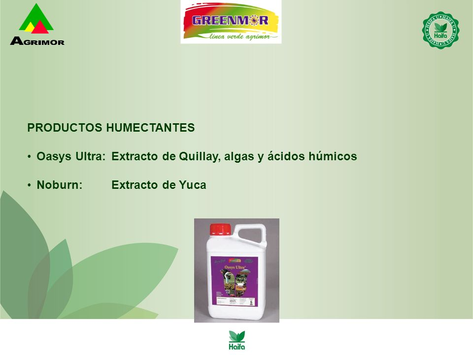PRODUCTOS HUMECTANTES