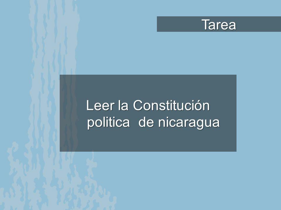 Leer la Constitución politica de nicaragua