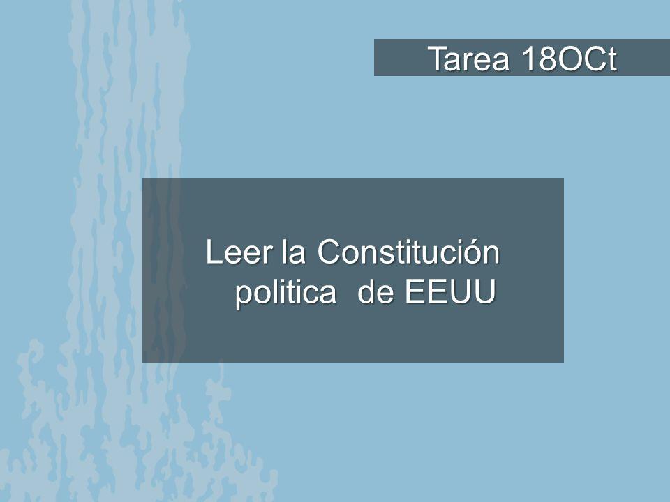 Leer la Constitución politica de EEUU