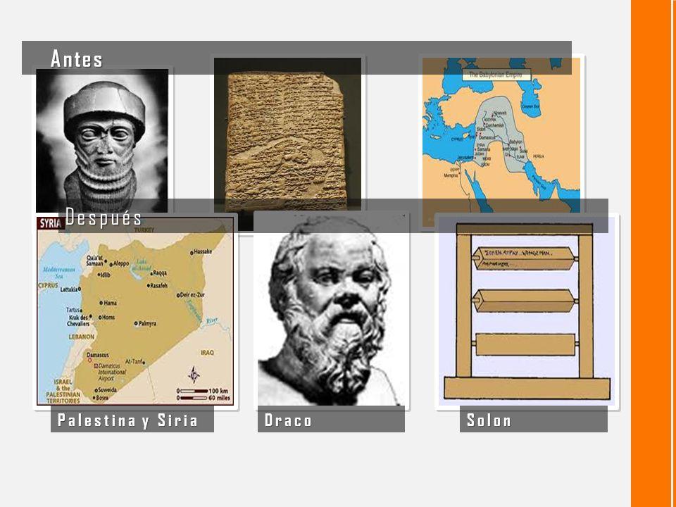 Antes Después Palestina y Siria Draco Solon