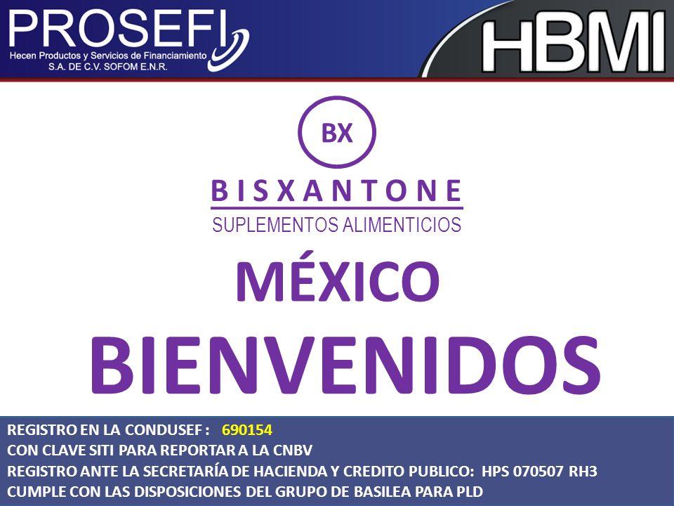 BIENVENIDOS MÉXICO B I S X A N T O N E BX SUPLEMENTOS ALIMENTICIOS